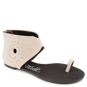 Promise Ferris Pink Ankle Cuff Toe RIng Sandals